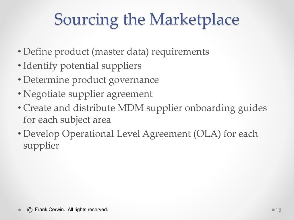 The Master Data Marketplace Ppt Download