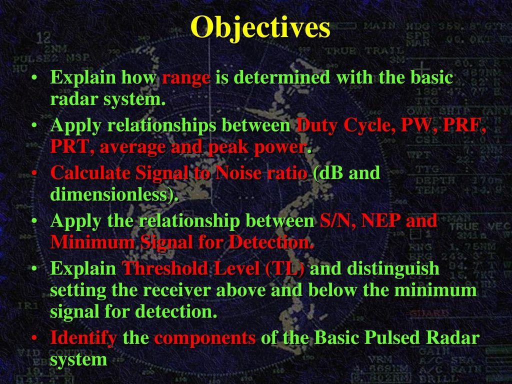 Basic Radar / Pulse Radar - ppt download