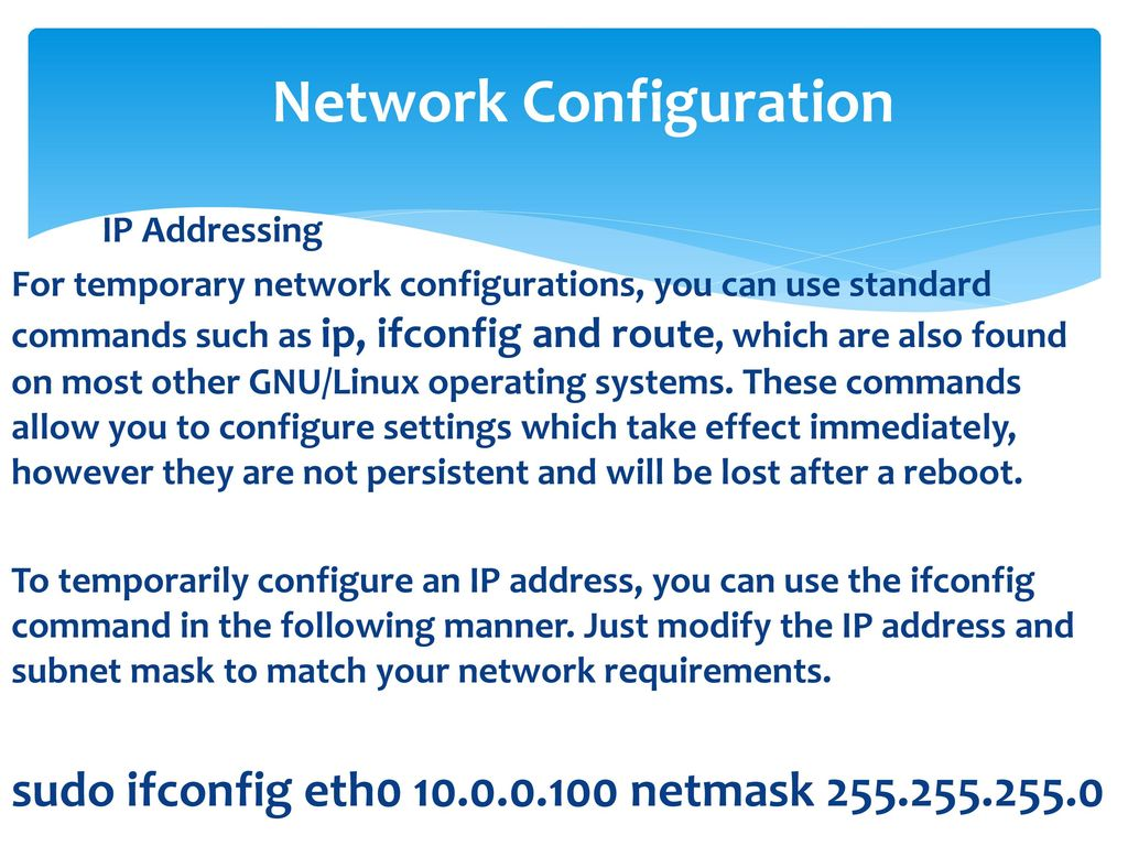 Network Configuration - ppt download