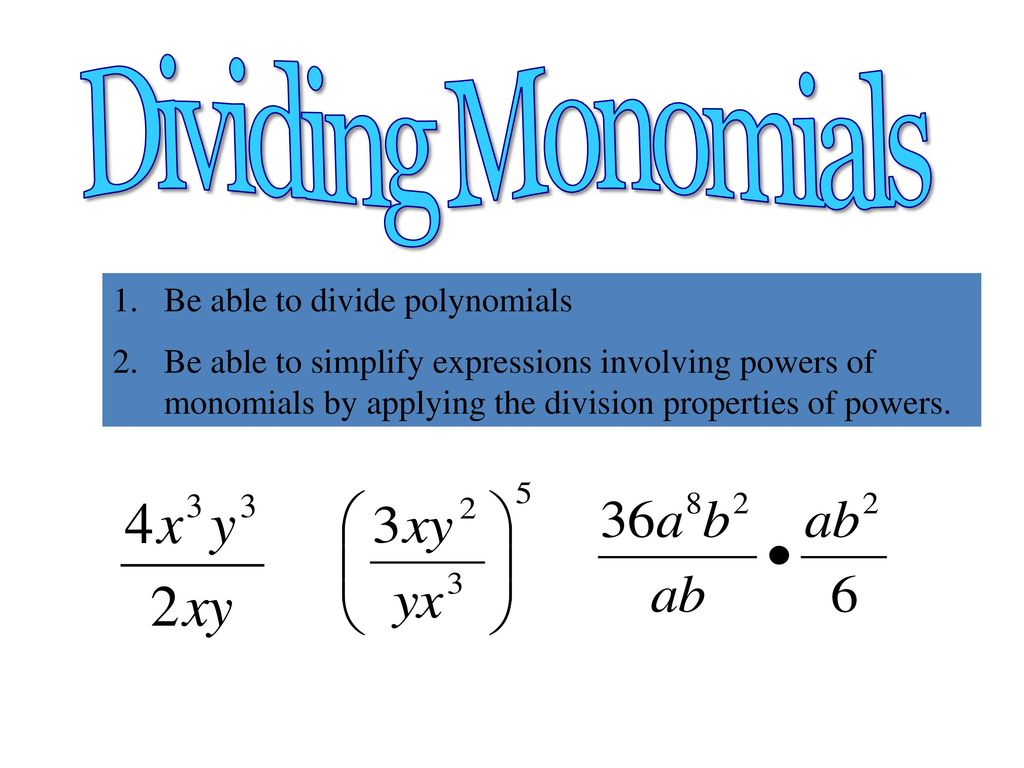 Distributive Property Multiply and Divide polynomials by a constant ...