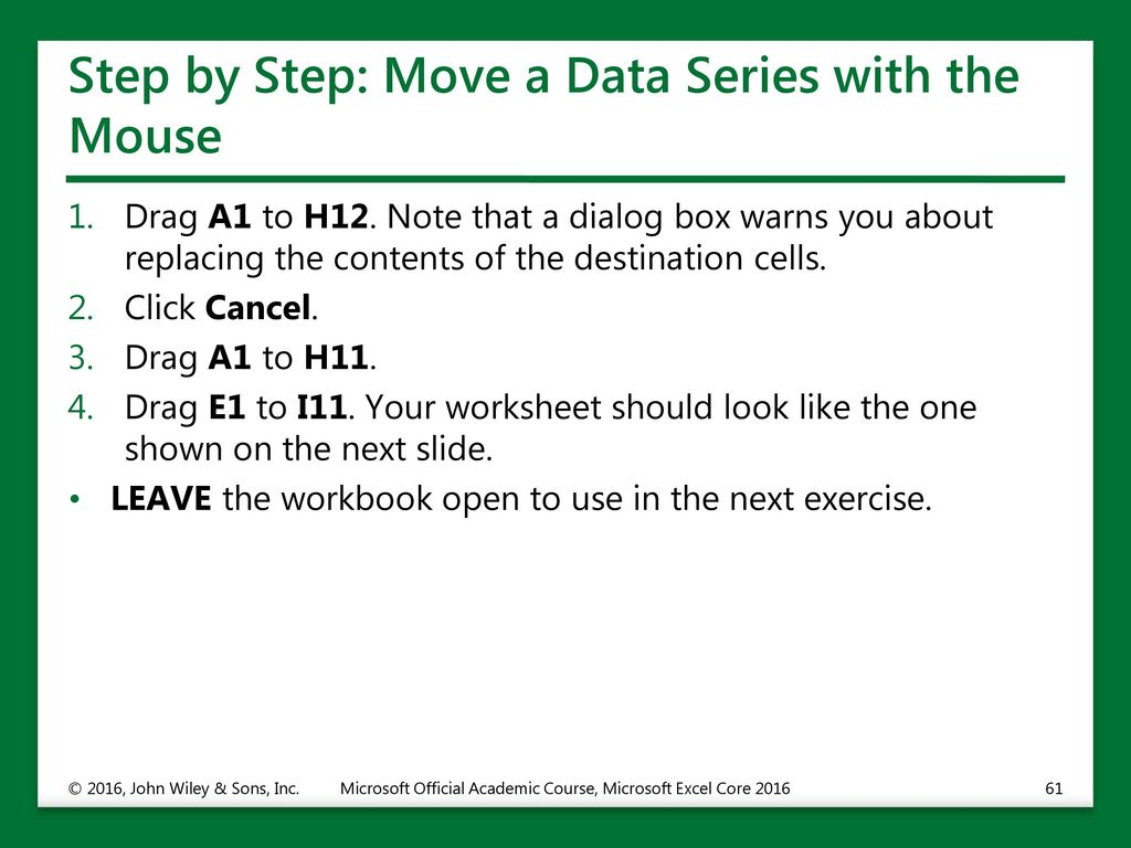 Working with Microsoft Excel ppt download