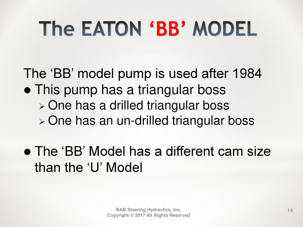 Identifying Eaton Power Steering Pumps - ppt download
