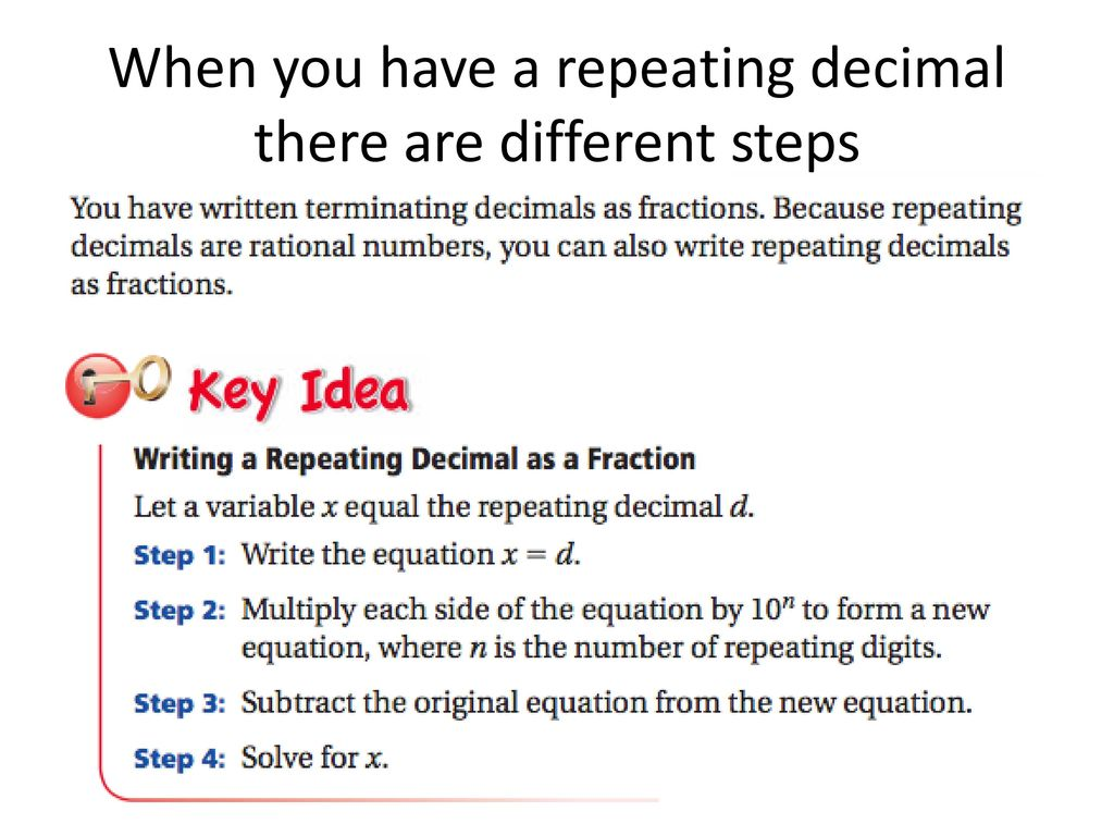 steps to write decimals as fractions - ppt download