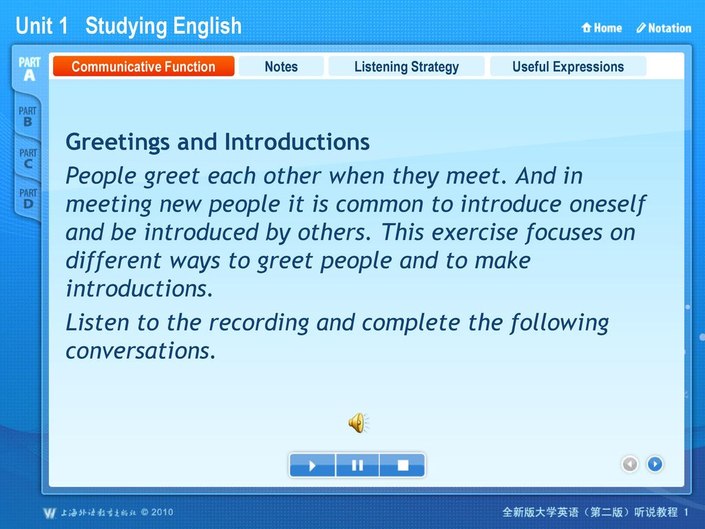 Unit 1 studying english ppt download 2 communicative function m4hsunfo