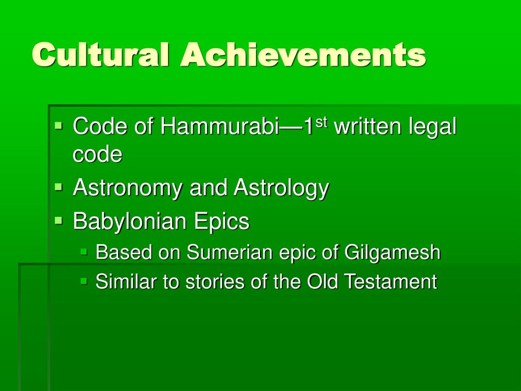 Civilizations of Mesopotamia Chart - ppt download