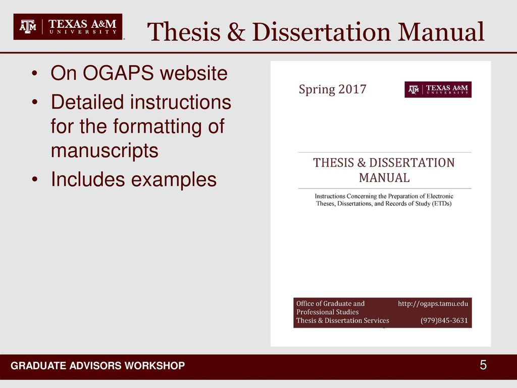 ogaps thesis manual