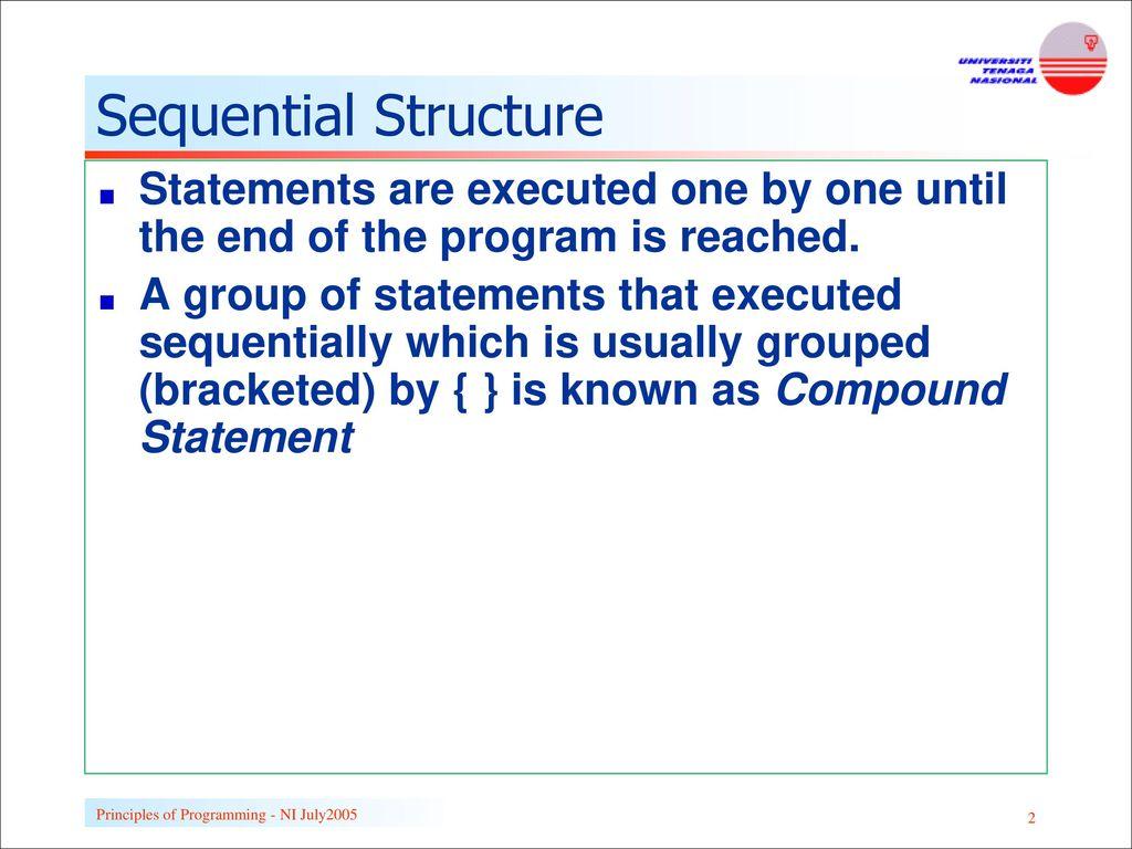 Structural Programming: Basic Principles 54