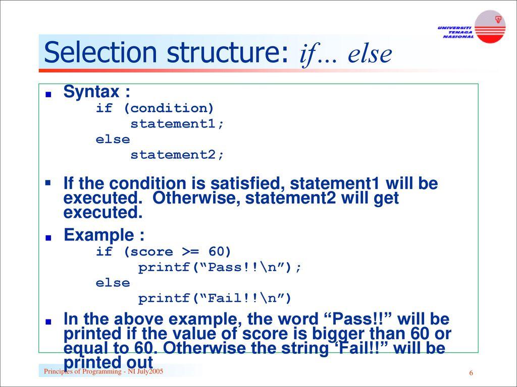 Structural Programming: Basic Principles 28