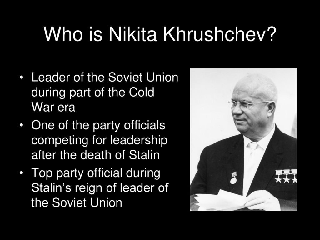 Today Khrushchev exposed Stalin