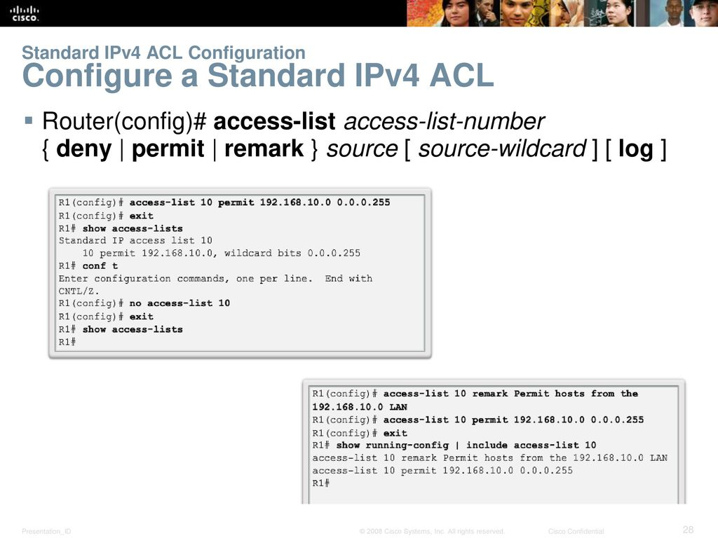 Instructor Materials Chapter 4: Access Control Lists - ppt