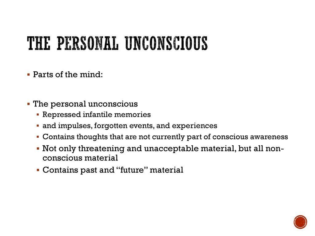 the personal unconscious