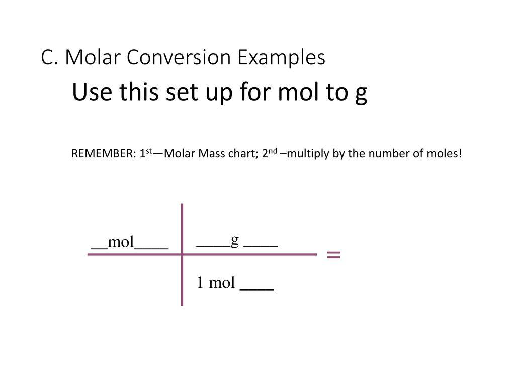 Molar Conversions P80 85 Ppt Download