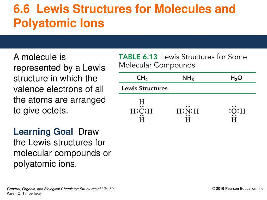 6 6 Lewis Structures For Molecules And Polyatomic Ions Ppt Download