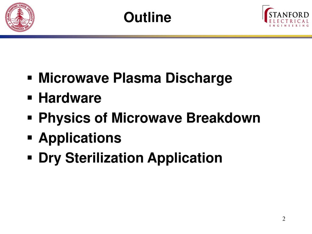 microwave plasma discharge and its applications