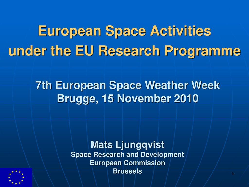 european space weather week - HD1024×768