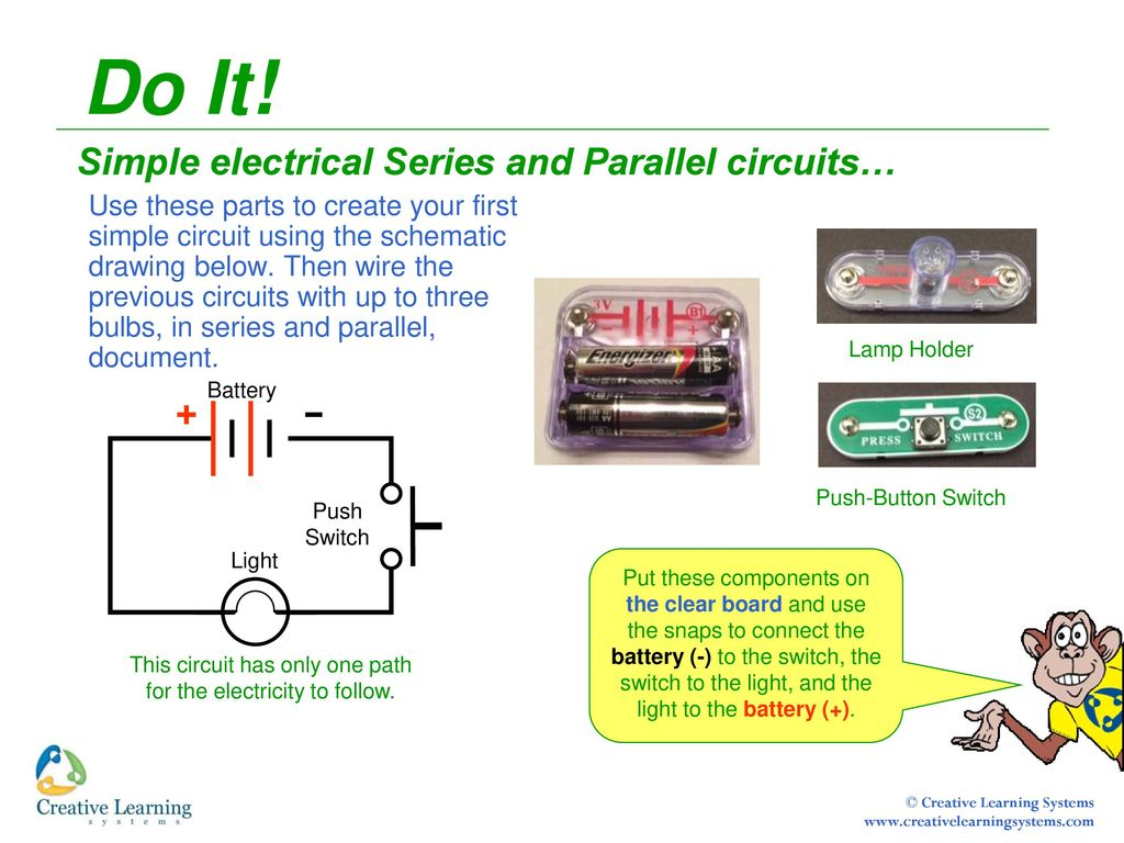 Electrical Circuits Featuring Snap Ppt Download How To Make A Simple Circuit Board This Has Only One Path For The Electricity Follow