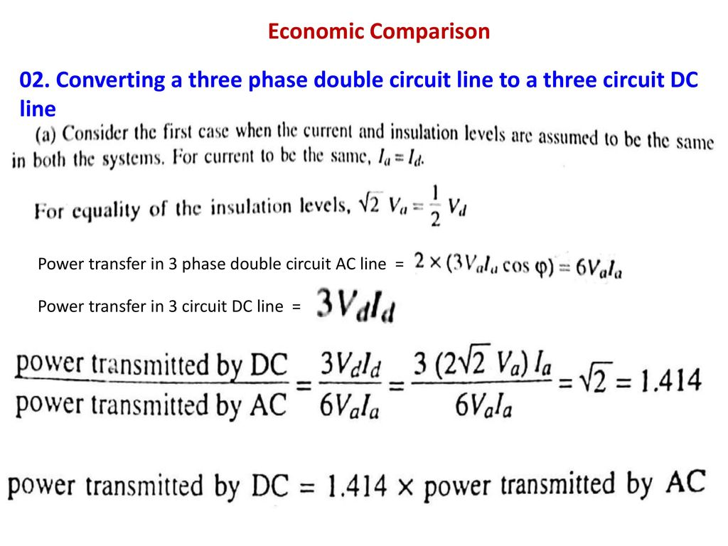 High Voltage Engineering Lecture 05 Topics Ppt Download In A Circuit The Current Can Be Transmitted To 11 Economic Comparison