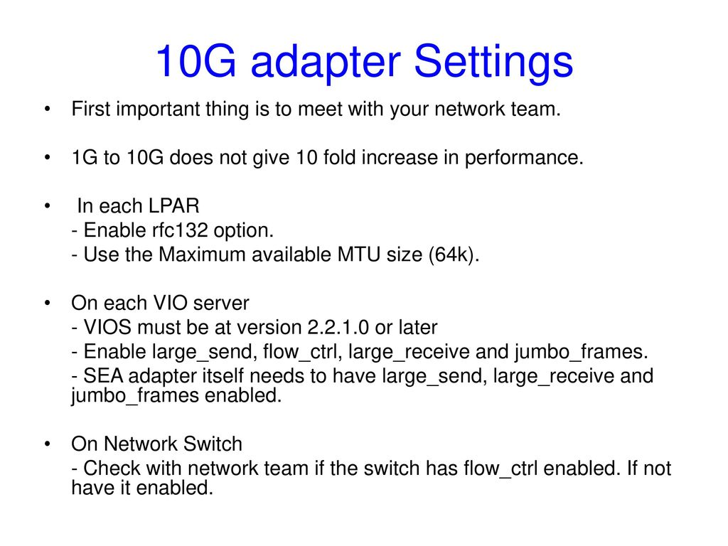 Vlan Tagging, Load Sharing with 10G adapters - ppt download