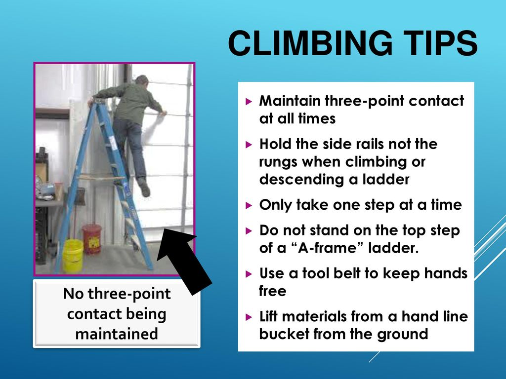 Using the correct ladder ppt download for A frame ladder safety tips