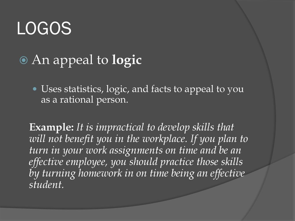 an appeal to logic