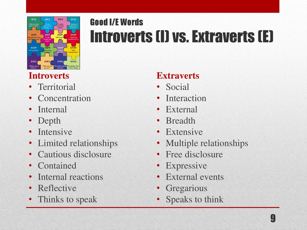 The Myers-Briggs Typology Indicator - ppt download