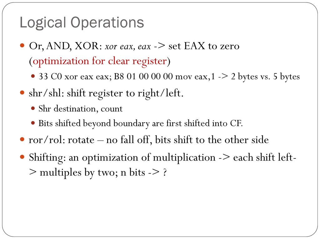 A Crash Course On X86 Disassembly Ppt Download
