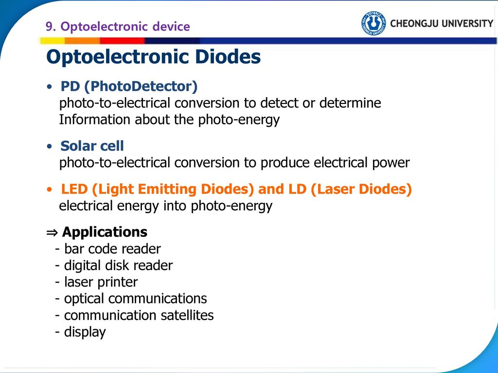 Chapter 9  Optoelectronic device - ppt download