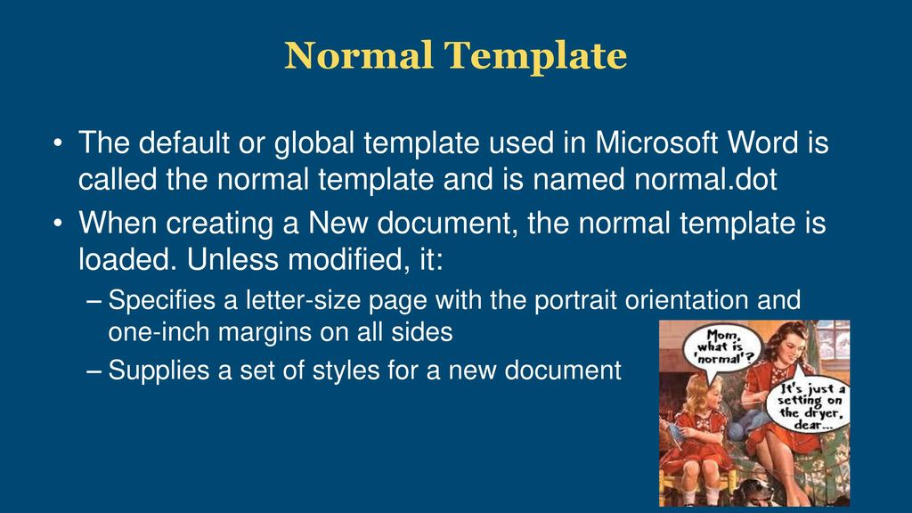 microsoft word normal template