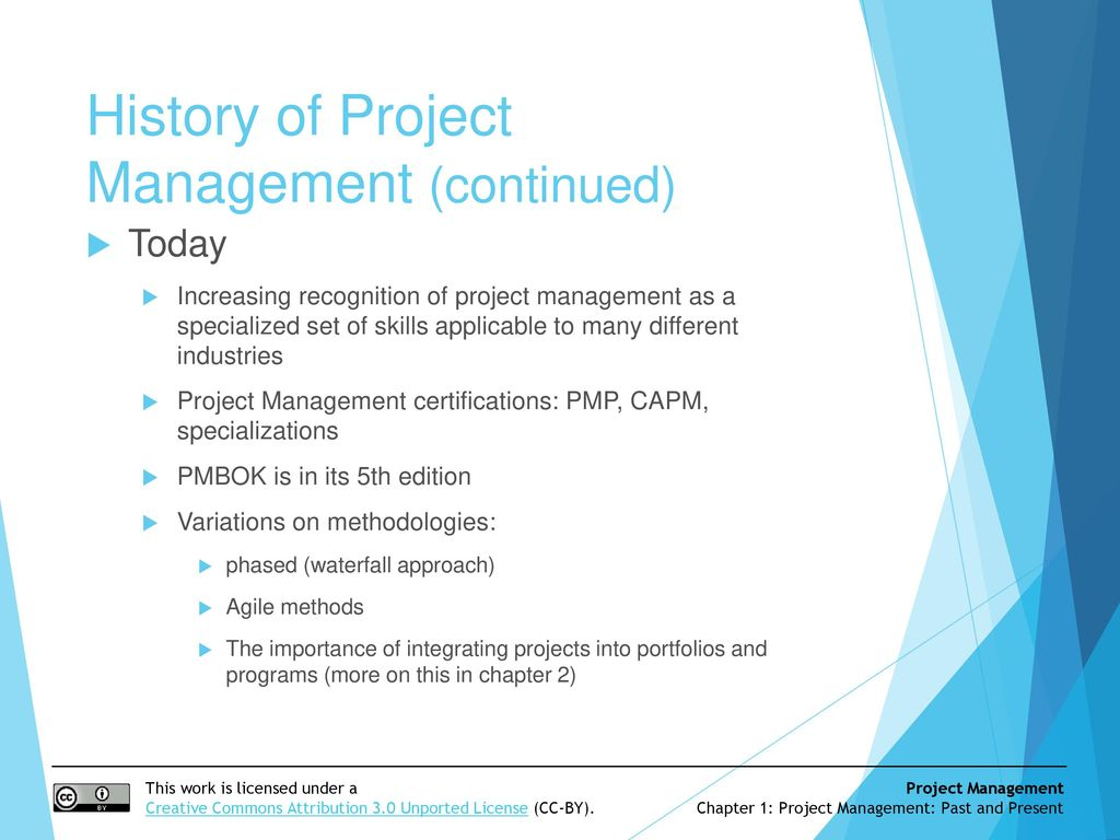 Project Management Past And Present Ppt Download