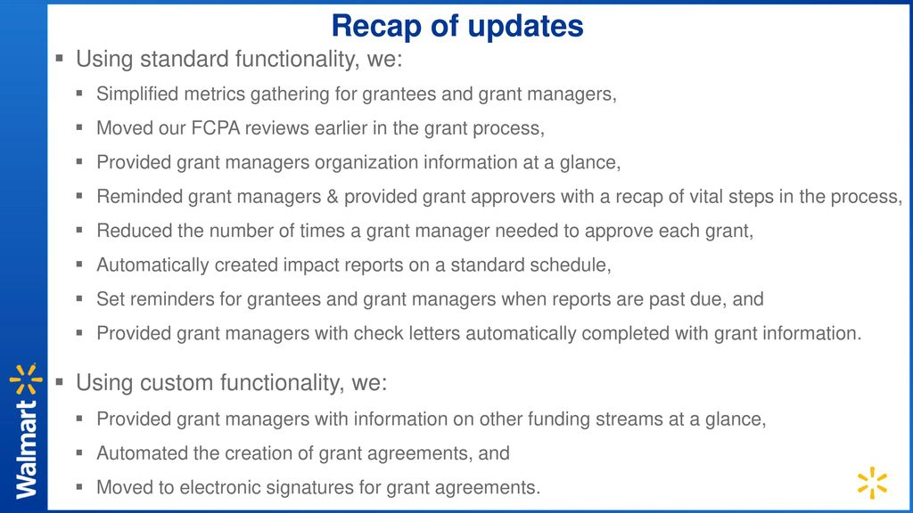 How Walmart Made Its Grantmaking Process Frictionless - ppt download