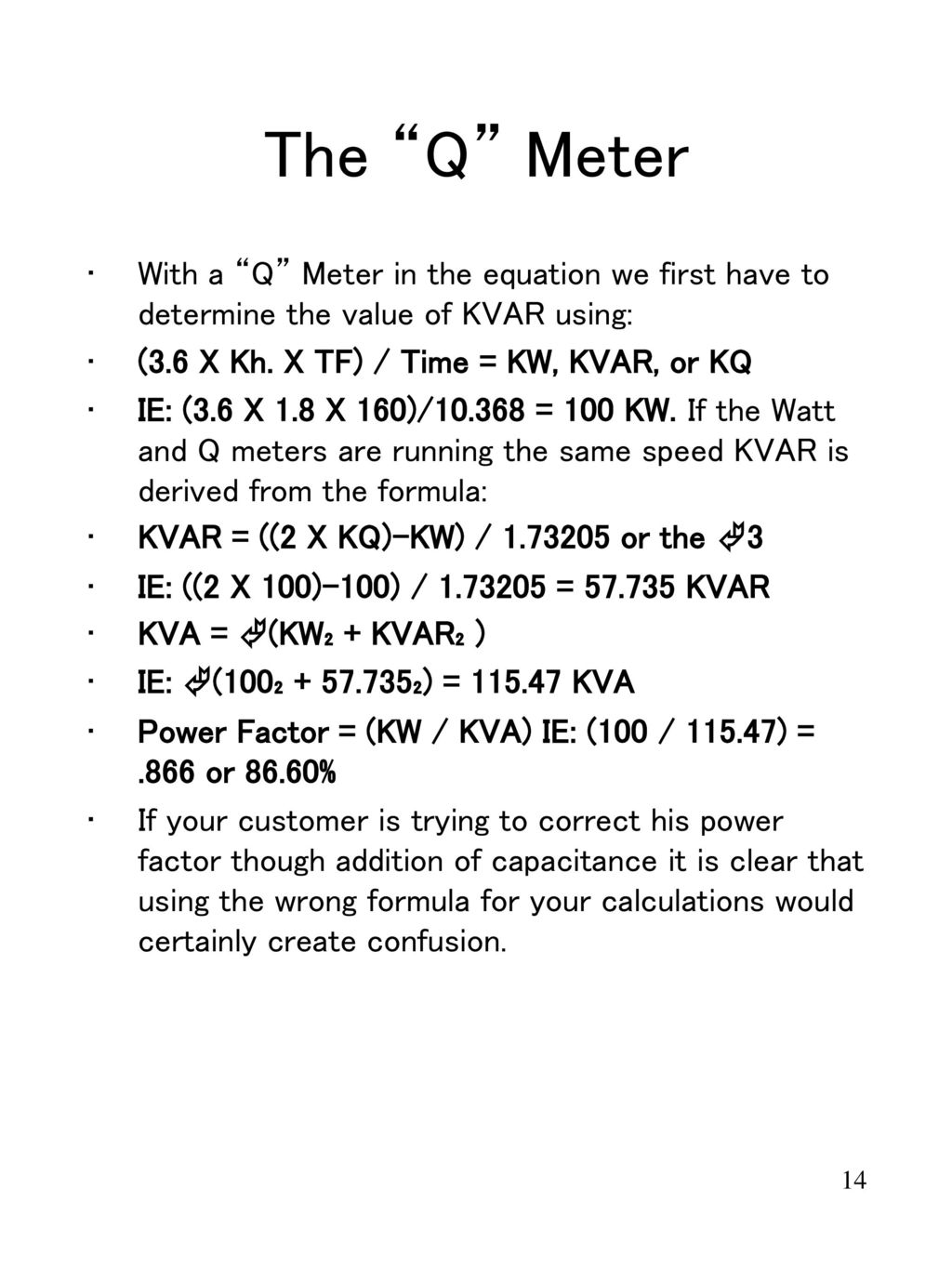 Metering In Todays World Ppt Download Q Meter Circuit Diagram The With A Equation We First Have To Determine