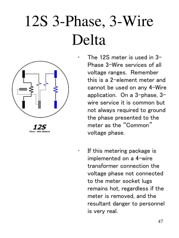12s 3-phase, 3-wire delta