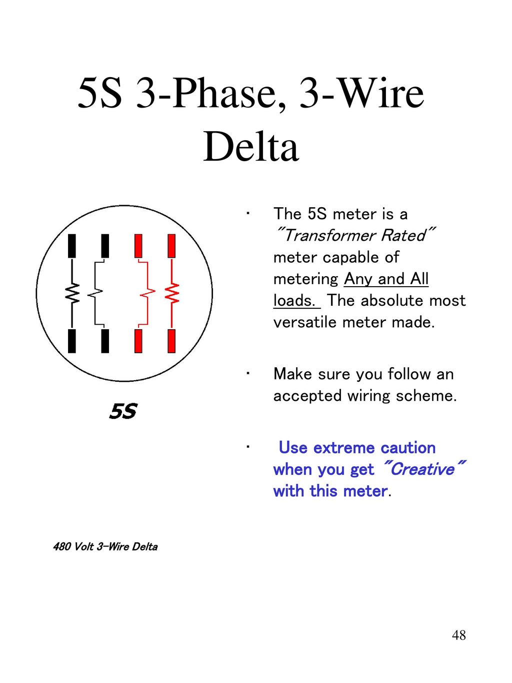 Metering In Todays World Ppt Download 480v 3 Phase Delta Transformer Wiring Diagram 5s Wire The Meter Is A Rated
