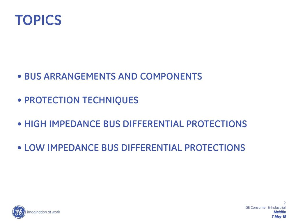Lunch & Learn – Bus Bar Protection - ppt download