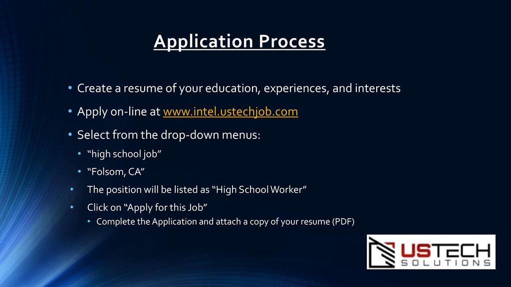 Intel Summer Internships - ppt download