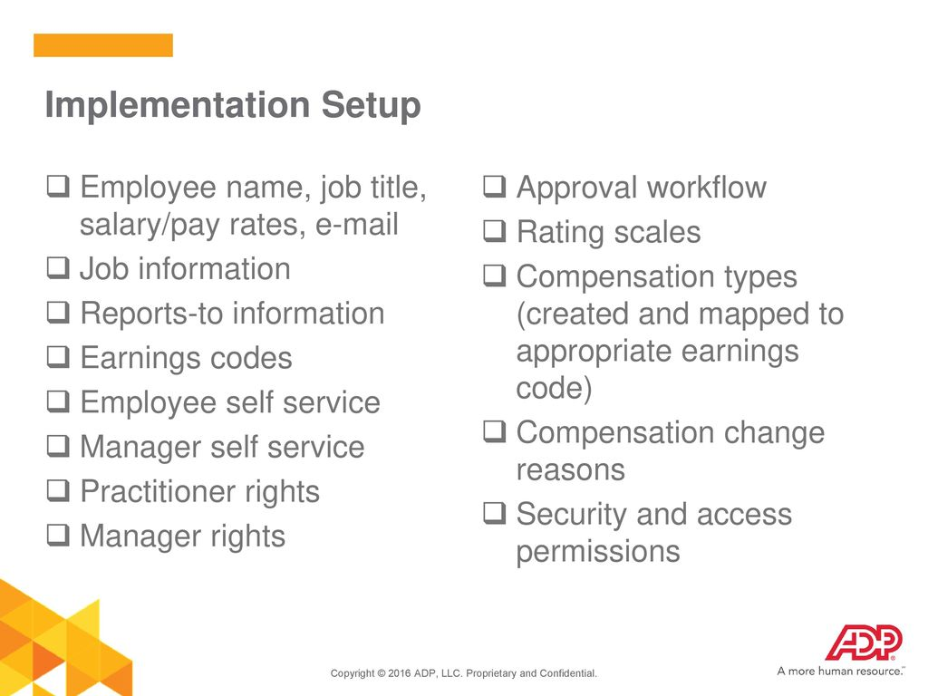 Welcome to ADP Workforce Now® Compensation Management - ppt