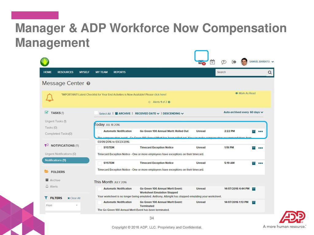 welcome to adp workforce now compensation management ppt download