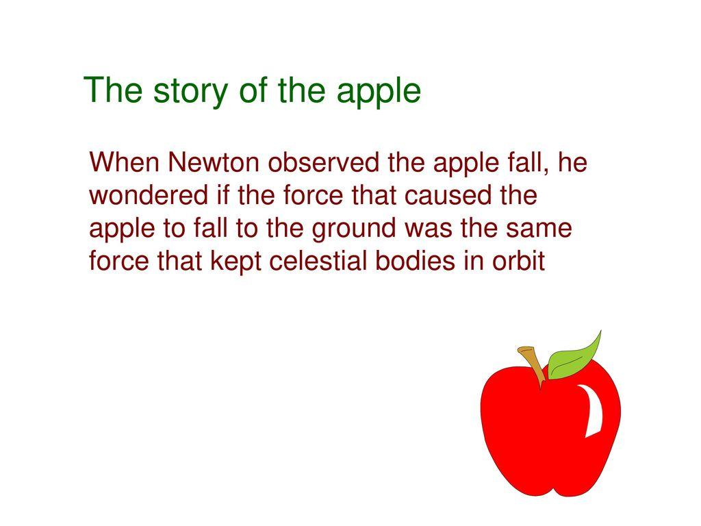 Why did the apple fall on the walrus that was under the ice floes 73