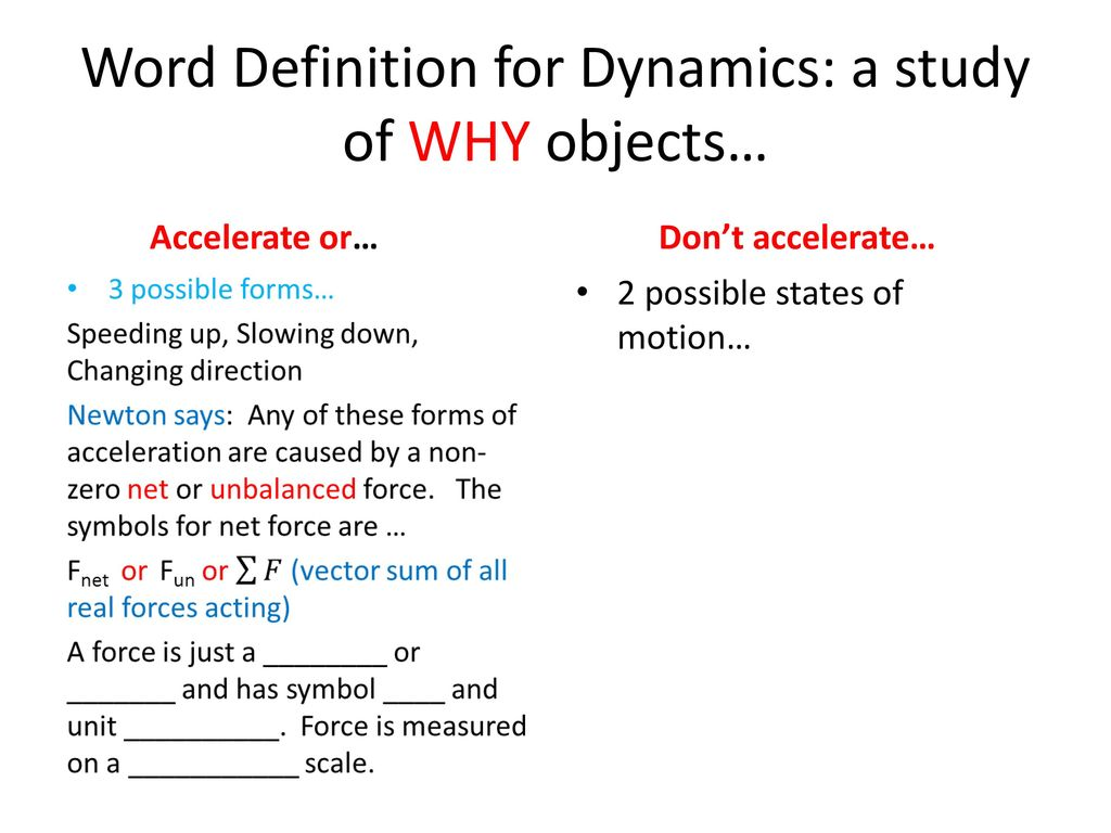Dynamics Ppt Download