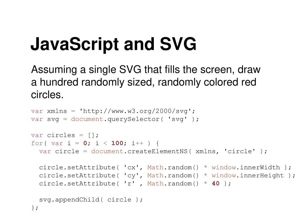 SVG & DOM Manipulation via Javascript - ppt download