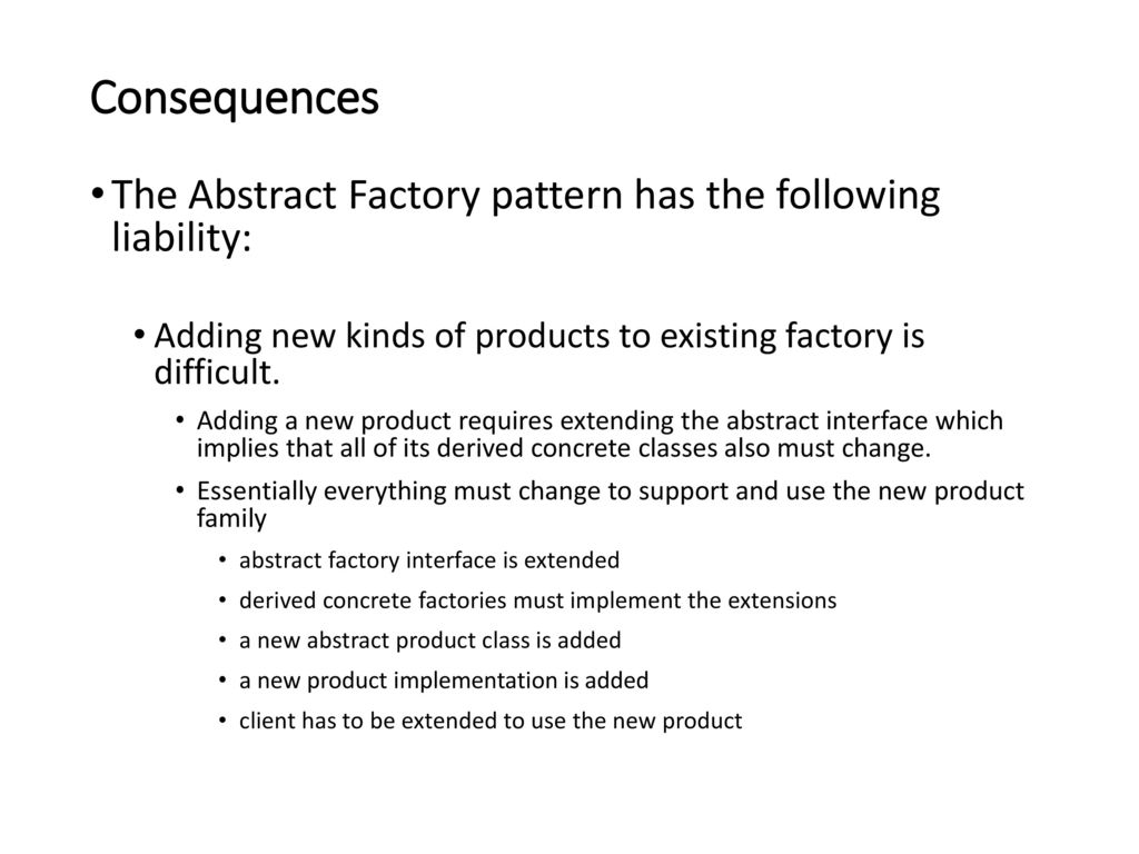 Abstract Factory Pattern C Simple Decorating Ideas