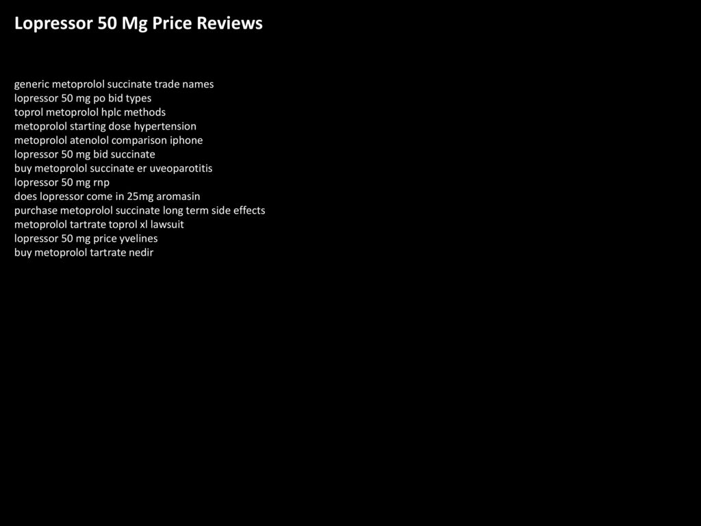 Metoprolol Reviews