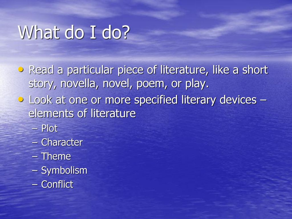 What Is Literary Analysis Ppt Download