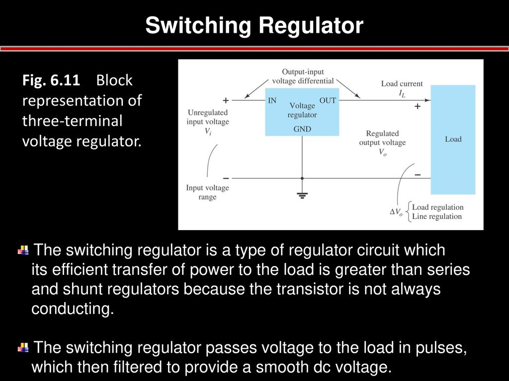 Chapter 6 Voltage Regulator Tulus Ikhsan Nasution Ppt Download Shunt Circuit Switching Fig Block Representation Of Three Terminal