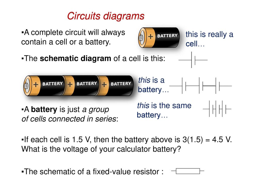 Topic 5 Electricity And Magnetism Ppt Download Circuit Diagram Cell 26 Circuits Diagrams