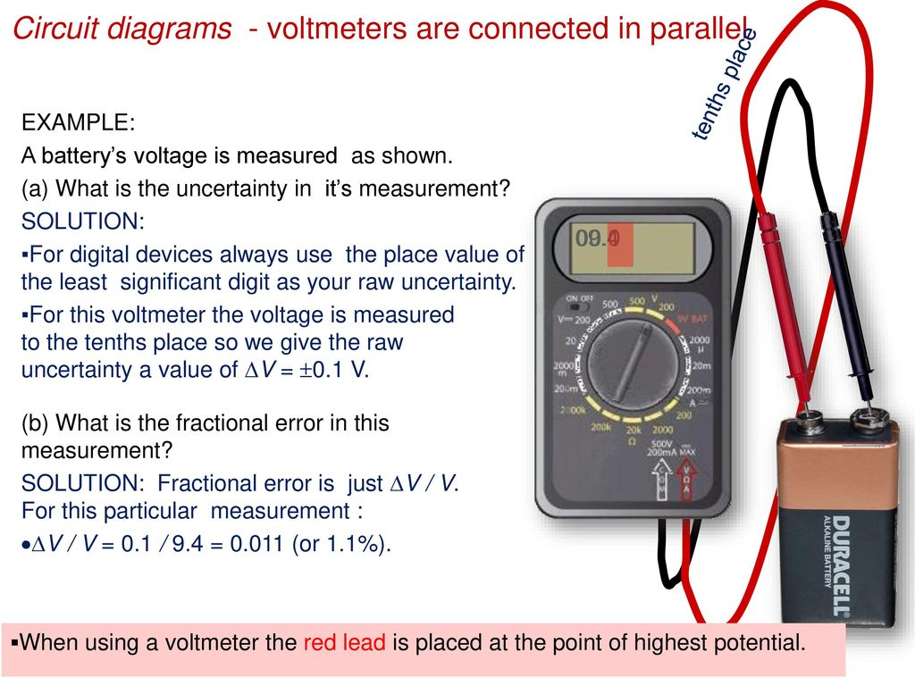 Topic 5 Electricity And Magnetism Ppt Download Circuit Diagram With Voltmeter Diagrams Voltmeters Are Connected In Parallel