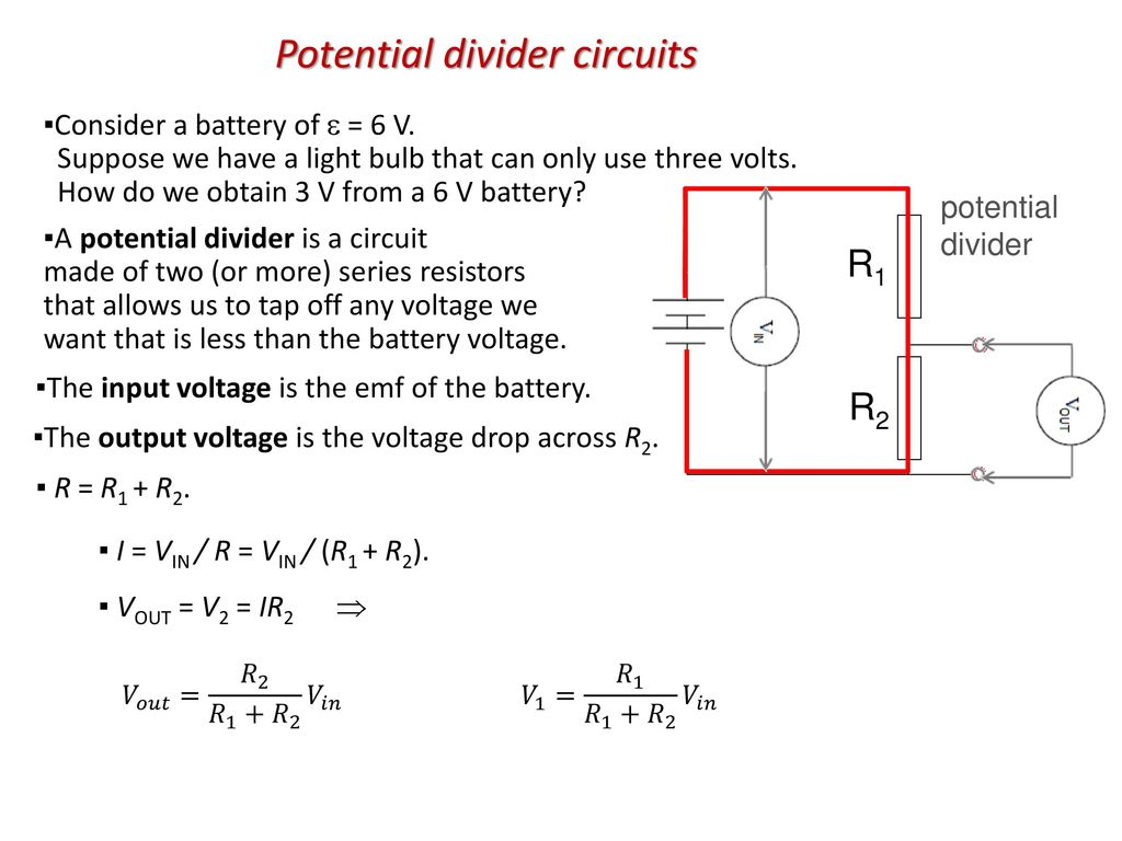 Topic 5 Electricity And Magnetism Ppt Download Free Voltage Divider Circuit Diagram Potential Circuits