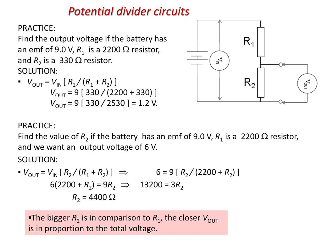 Topic 5 Electricity And Magnetism Ppt Download Free Voltage Divider Circuit Diagram 52 Potential Circuits