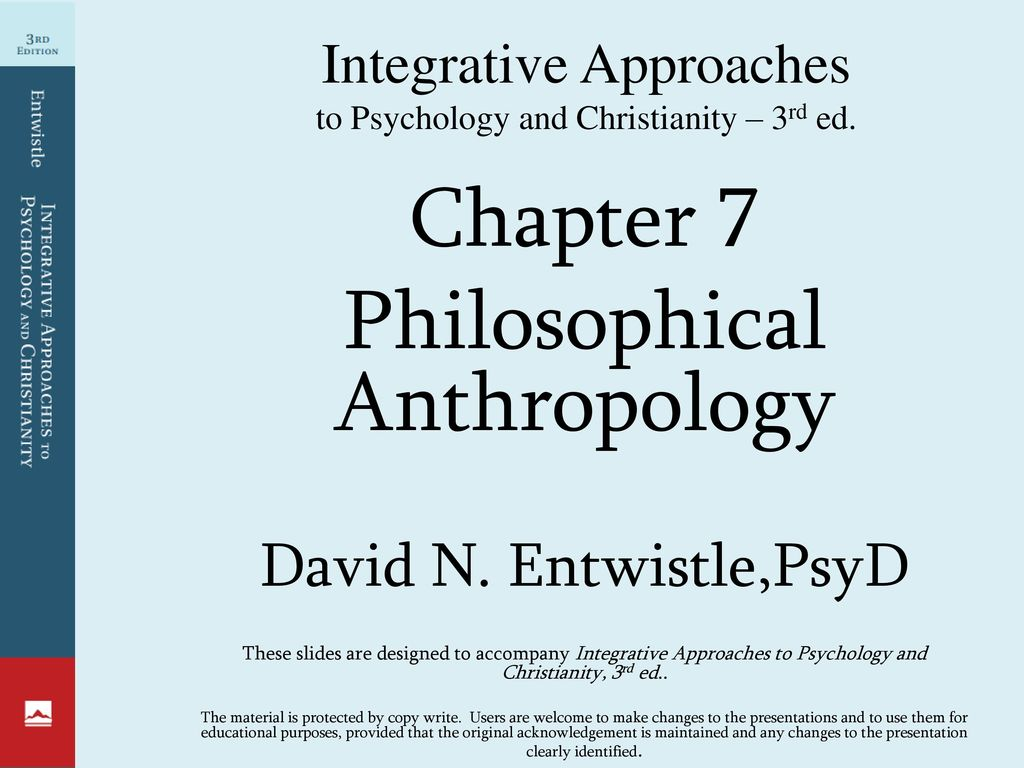 entwistle integrative approaches to psychology and christianity