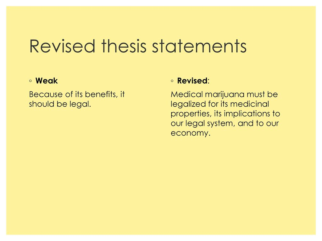 a thesis should be revised